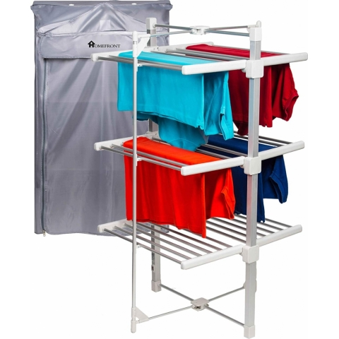 Homefront Electric Heated Clothes Airer Drying Rack with Free Zip Cover
